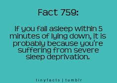 And thought I was just good at sleeping.