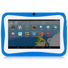 7 inch Children Tablet PC with Silicon Bracket Case Android4.4 OS Quad Core 8GB HD Screen Kids EDU Games PC88