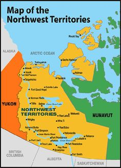 Northwest territories map i would love to see the raw power of the canadas northwest territory had its boundaries changed in 1999 reduced when neighbouring territory gumiabroncs Images