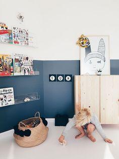 I want this wonderful kids playroom Bedroom Wall, Kids Bedroom, Bedroom Loft, Trendy Bedroom, Half Painted Walls, Casa Kids, Kids Room Design, Design Girl, Design Bedroom