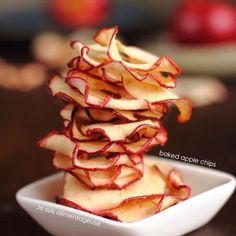 Baked apple chips for the win!!