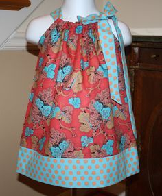 pillowcase dress girls baby toddler kaffe by BlakeandBailey, $18.99