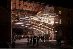 Stunning Wood Vortex Sculpture Uses Leds To Show Its Site's Energy Consumption