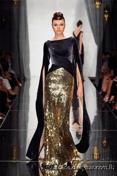 gold sequins and black velvet