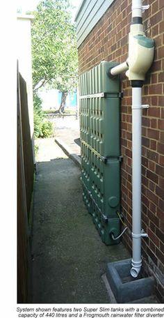 Aboveground Urban Rainwater Harvesting. Narrow spaces.