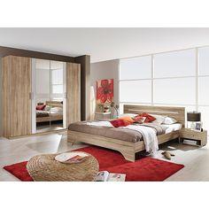 Schlafzimmer-Set (4-tlg.), »Sarah«, mit Bett 180/200 und 5-oder 6 ...