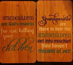 Grandchildren/grandparetns quote wooden laminate board. available through Branding by Bec on facebook or website http://www.brandingbybec.com.au