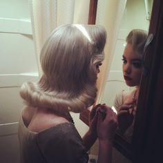 vintage 1950s pinup pinupgirl vintage hair hisvintagetouch his vintage touch atomictantrum lauren wk pinuphair