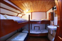 Bunkbeds on board the sailing charter vessel 'Linquenda'. Bunk Beds, Sailing, Board, Furniture, Home Decor, Candle, Decoration Home, Loft Beds, Room Decor