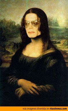 Versiones divertidas de La Mona Lisa: Michael Jackson