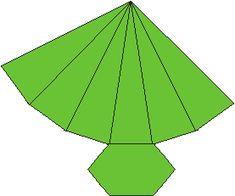 So 50 moldes diversos de slidos geomtricos para recortar e