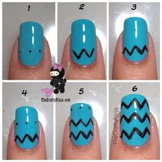 How To Paint Chevron Nails This Is Messy But The Idea Great Toenail