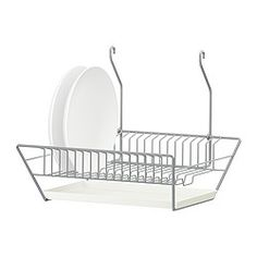 BYGEL Dish drainer $6 from Ikea - Potential solution to our lack of counter space IF we can find somewhere to attach the rail for it
