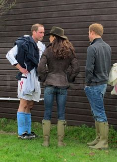 Is it possible to look better in jeans? Kate watching Prince William play soccer on Christmas Eve