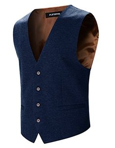 FLATSEVEN Mens Designer Stylish Casual Vest Premium (VE70…