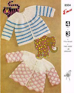 crochet baby matinee coat set vintage crochet by Ellisadine