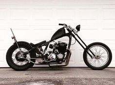 """lowbrowcustoms: """"Check out! @slagledawg Cb750 chopper : @hondachopper_dot_com #honda #choppers #ccb750 #cb750choppers #buildsomething #ftw """""""