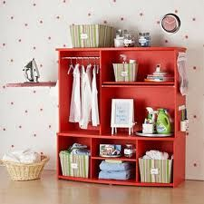Nice Laundry Organization- recycled from an old entertainment center