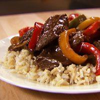 Tricolor pepper steak