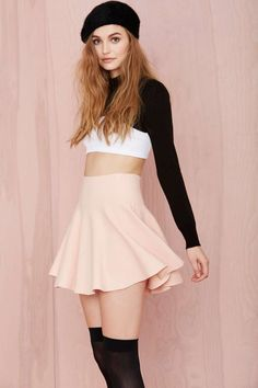 Cream of the Crop Skirt - Blush