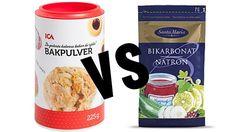 bakpulver och bikarbonat skillnaden