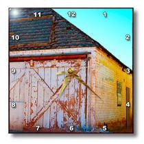 3dRose - Jos Fauxtographee Santa Clara - An old shack in Santa Clara - Wall Clocks
