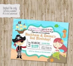 49 best pirate birthday invitations images pirate birthday