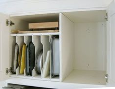 Decorating Kitchen 20 Home Organizing Before and Afters That Will Give You Chills - Kitchen Storage Cabinets - Organizing Tutorial - Type-As will feel better just looking at these makeovers. Fridge Storage, Fridge Organization, Kitchen Cabinet Storage, Home Organisation, Storage Cabinets, Organization Ideas, Oven Cabinet, Pan Storage, Hidden Storage