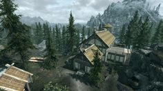 Lakeview Manor is a homestead which can be built on land purchased from the Jarl of Falkreath hold in Hearthfire. Elder Scrolls Skyrim, Elder Scrolls Online, Skyrim House, Mead Hall, Minecraft City Buildings, Fantasy Inspiration, Lake View, House Design, Adventure
