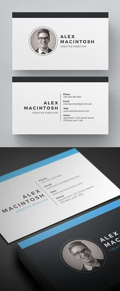 Simple, clean and minimal business card templates ideal for personal identity or minimalist design business. The super clean business card designs have been Business Cards Layout, Minimal Business Card, Free Business Cards, Modern Business Cards, Business Card Logo, Business Card Design, Business Card Templates, Graphisches Design, Design Cars