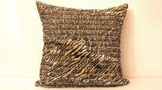 LEOPARD Muslin Frill   Ivory silk animal throw pillow by SABDECO, €23.00