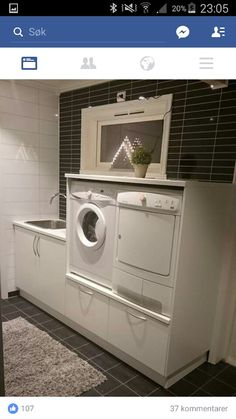 Stacked Washer Dryer, Washer And Dryer, Washing Machine, Laundry, Home Appliances, Kitchens, Laundry Room, House Appliances, Washing And Drying Machine