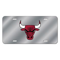 Chicago Bulls NBA Laser Cut License Plate Cover