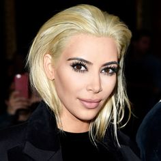 Platinum Perfection - Taking the platinum plunge, Kim looked high-fashion and super fierce.