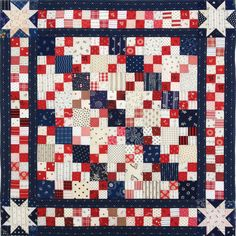 quilters quilts | is for Quilter » Blog Archive » Patriotic 4-Patch Doll Quilt Top
