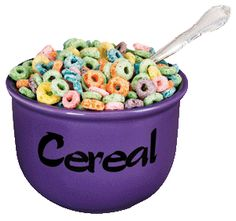 But many people eat a GIANT BOWL of cereal like Jethro Clampett used to have on The Beverly Hillbillies! Cereal Diet, Bowl Of Cereal, Fruit Loops Cereal, Dog Food Recipes, Healthy Recipes, Diet Challenge, People Eating, Portion Control, What You Eat