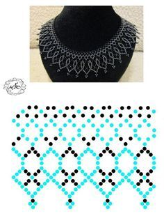 Jewerly diy necklace simple ideas for 2019 - Halskette Ideen Diy Necklace Patterns, Beaded Jewelry Patterns, Beading Patterns, Lace Necklace, Simple Necklace, Beading Projects, Beading Tutorials, Bead Loom Bracelets, Necklace Tutorial
