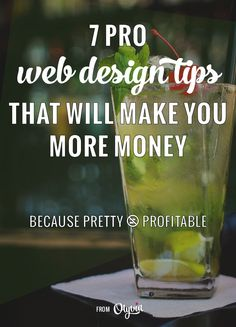 Professional web design tips that will help you make money with your website! Make sure your blog or business design + theme is marketing friendly, not just pretty to view.