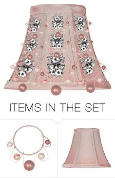 """""""Dusty Rose Lampshade!"""" by kksnanny ❤ liked on Polyvore featuring art"""
