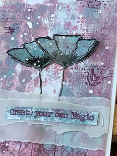 """Today I am showcasing a card I created as one of my demo pieces from a few shows I have attended around the country, using my Stamp """"Ho. Mix Media, Mixed Media Art, Lavinia Stamps, Verses For Cards, Artist Card, Christmas Calendar, Background Ideas, Paint Techniques, Distress Ink"""