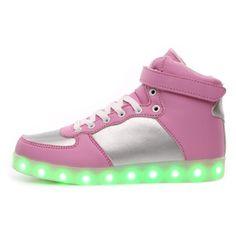 Zapatos LED Rosa Altos