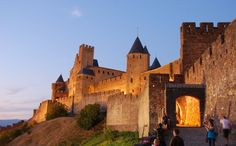 Carcasonne with its beautiful castle xS