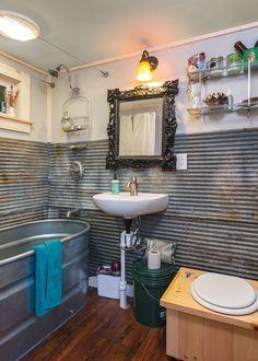 Little Lou | Tiny House Swoon, trough bathtub Tiny House Swoon, Tiny House Living, Tiny House Plans, Tiny House Design, Home Design, Design Ideas, Design Design, Interior Design, Living Room