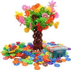 BAA SHOP Snowflakes Toys Stacking Blocks Educational Building Blocks 400 pcs / Reusable Colorful Building blocks Toys/Building Set/Construction Building Blocks Toys for Boys/Girls