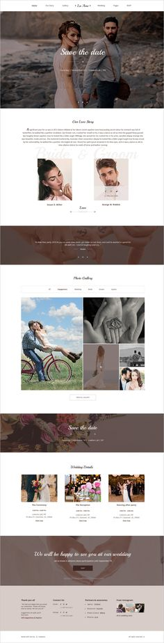 La Ame is the perfect choice for a #couple looking for an elegant and clean PSD template for perfect #wedding planning #websites. Template includes all necessary blocks and pages for perfect celebration wedding: Invitations, RSVP, Gift Registry, Accommodation, Menu, Guestbook, Bridesmaids & Groomsmen's pages etc, with an elegant and unique design download now➩ https://themeforest.net/item/la-ame-elegant-wedding-psd-template/19037725?ref=Datasata