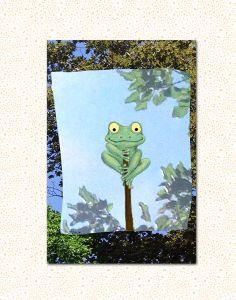 digitale Collage, FabelHaft, Frosch von tisch8 auf DaWanda.com