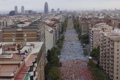 Avg.Meridiana (Barcelona) 11 setembre 2015 #catalonia11S VIA LLIURE a la independència