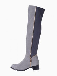 Knee Boots With Zip Detail