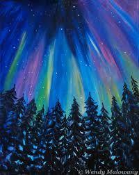 Bildresultat för northern lights painting