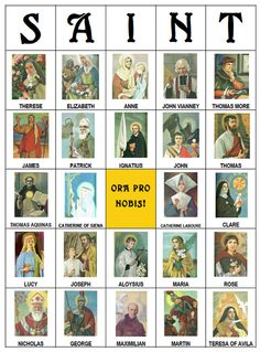 All Saints Bingo :: 30 Printable Cards